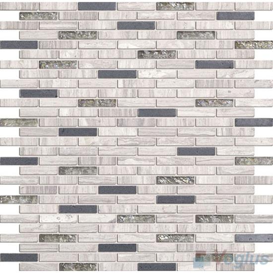 Gray Mini Brick Glass Stone Mosaic VB-GSJ88