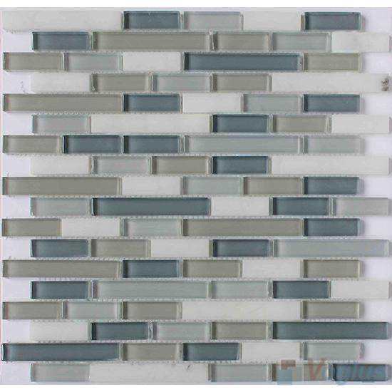 Grey Strip Stone Glass Tiles VB-GSN88