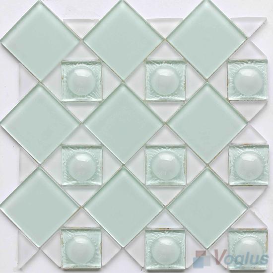 Light Blue Triangle Shape Mix Square Glass Mosaic VG-UTS99