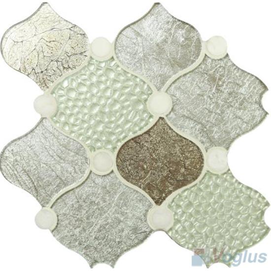 Modern Large Lantern Shape Glass Mosaic Tiles VG-ULN97