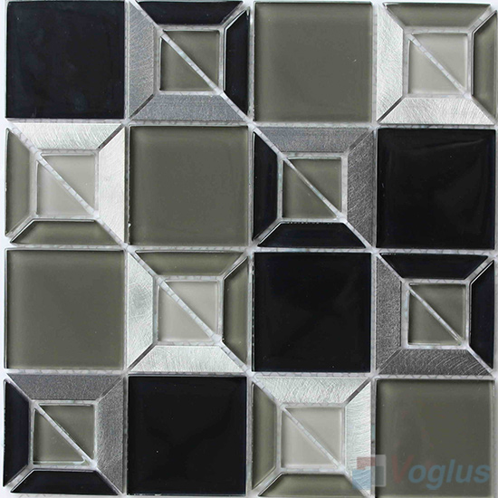 Mountain Triangle Shape Mix Square Glass Mosaic VG-UTS95
