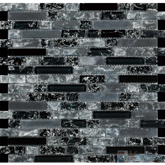Nighty Linear Ice Crackled Glass Tiles VG CKL95