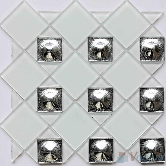 Pearl Triangle Shape Mix Square Glass Mosaic VG-UTS98