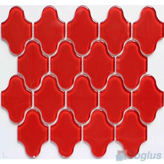 Red Flower Shape Water Jet Glass Tile VG-UWJ92