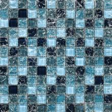 Blue Blend 1x1 Ice Crackle Mosaic Tiles VG-CKB89
