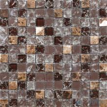 Dark Brown 1x1 Ice Crackle Mosaic Tiles VG-CKB91