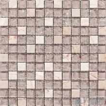 Isabelline 1x1 Ice Crackle Mosaic Tiles VG-CKB92