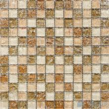 Tan 1x1 Ice Crackle Mosaic Tiles VG-CKB93