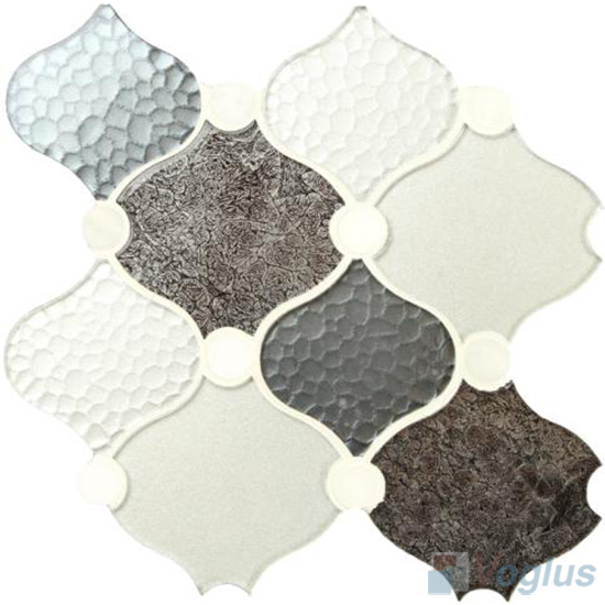 Typical Large Lantern Shape Glass Mosaic Tiles VG-ULN95