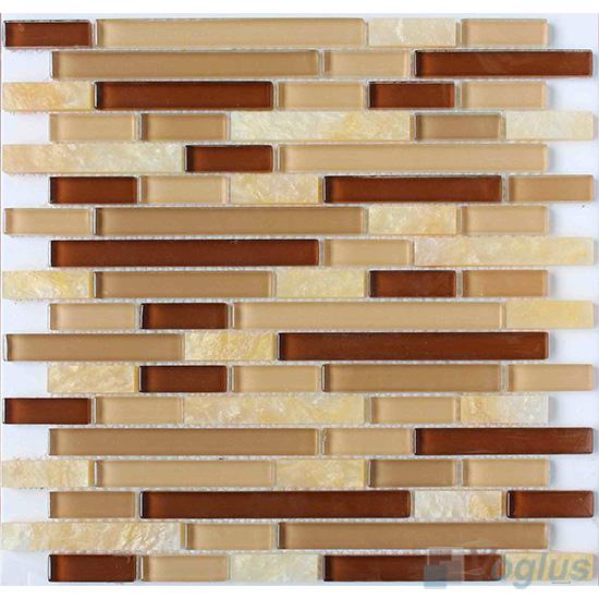 Yellow Strip Stone Glass Tiles VB-GSN86