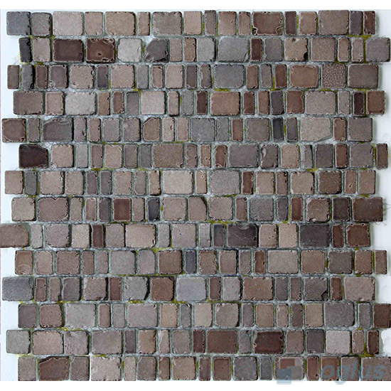 Light Coffee Rusty Rock Glass Mosaic Tiles VG-URY98