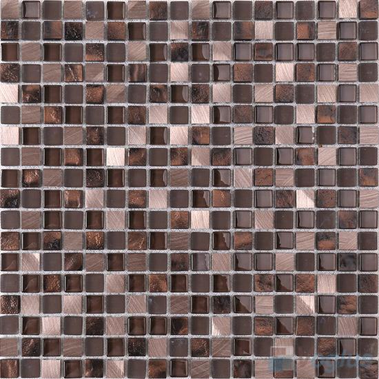 15x15mm Glass Aluminum Mosaic Tile VB-GMA85
