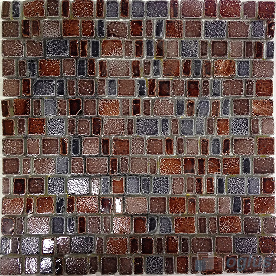 Chocolate Clay Antique Rusty Glass Mosaic VG-URY94