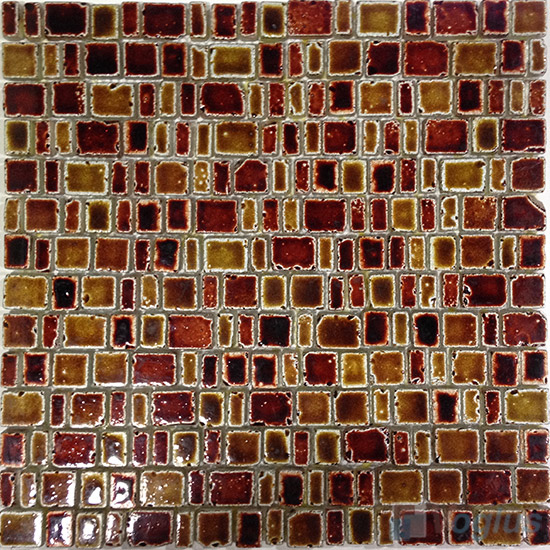 Fire on Flame Antique Rusty Glass Mosaic VG-URY93