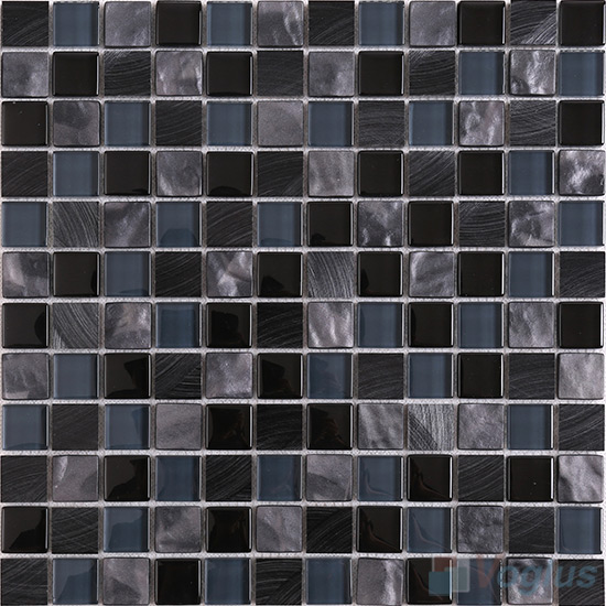 Nighty 1x1 Glass Aluminum Mosaic VB-GMN85