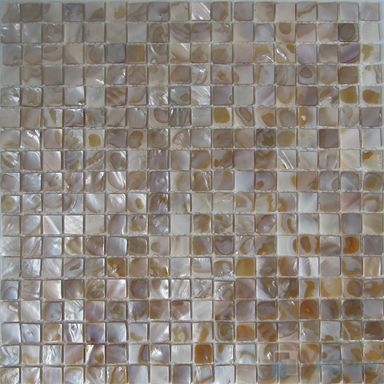 15x15mm Mother of Pearl Shell Mosaic Tiles VH-HT87