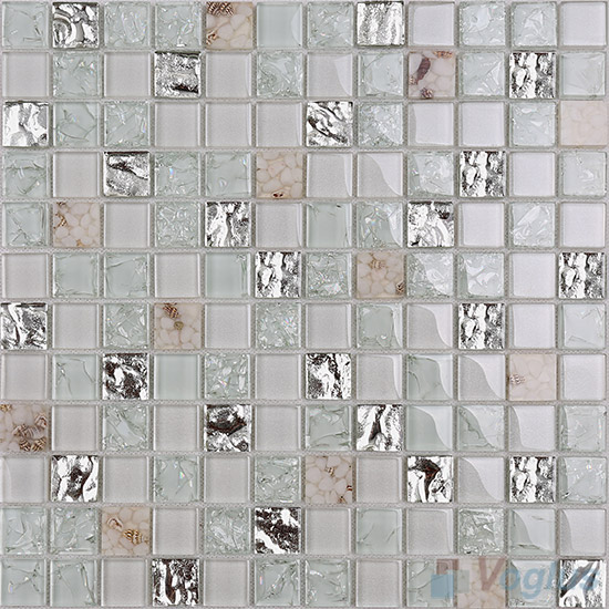 1x1 Glass Resin Mosaic Tiles VB-GRB89