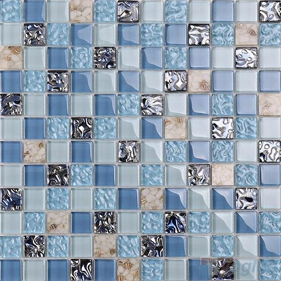 1x1 Glass Resin Mosaic Tiles VB-GRB91