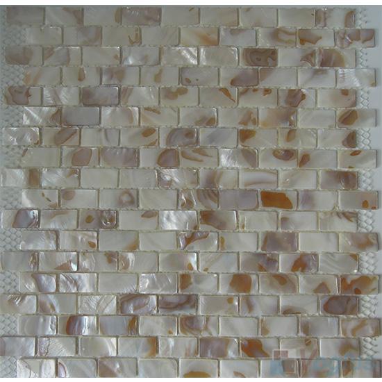 Brick Mother of Pearl Shell Mosaic VH-PN93