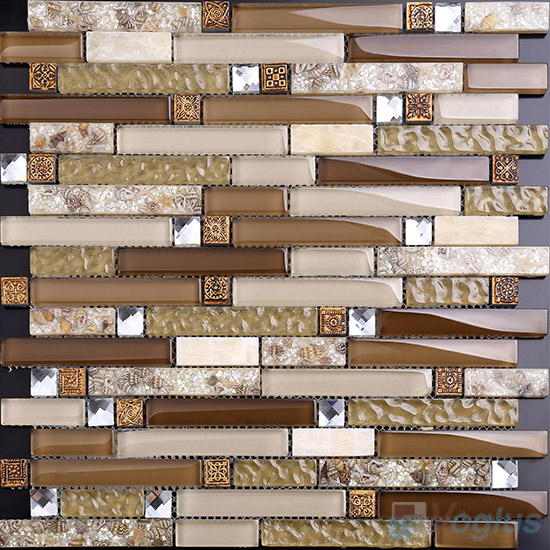 Bullet Linear Glass Mixed Resin Mosaic VB-GRL89