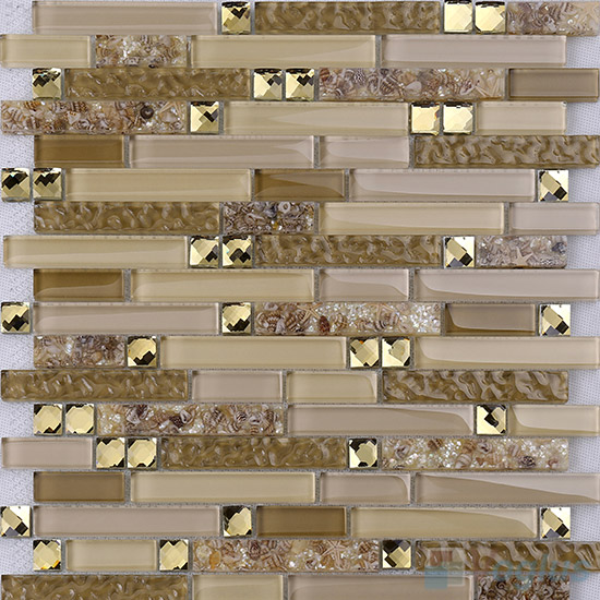 Bullet Linear Glass Mixed Resin Mosaic VB-GRL93