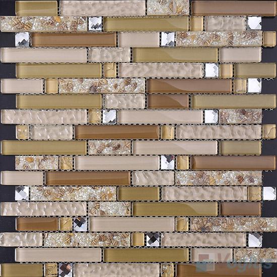 Bullet Linear Glass Mixed Resin Mosaic VB-GRL94