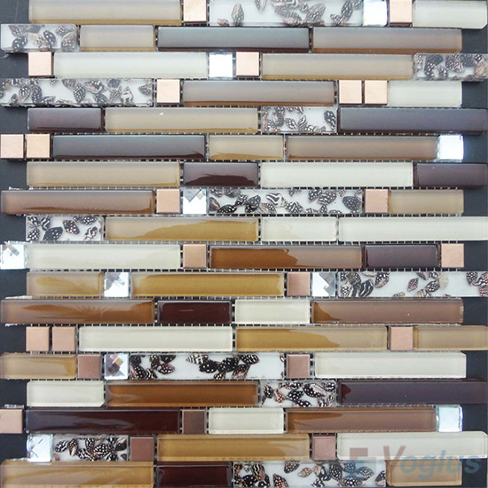 Bullet Linear Glass Mixed Resin Mosaic VB-GRL95