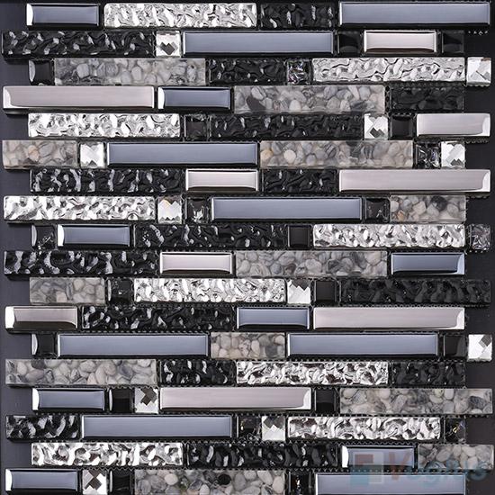 Bullet Linear Glass Mixed Resin Mosaic VB-GRL96