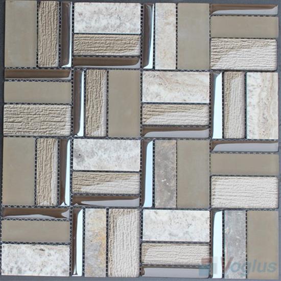 Magic Miscellaneous Glass and Stone Mix Mosaic Tile VB-GST86