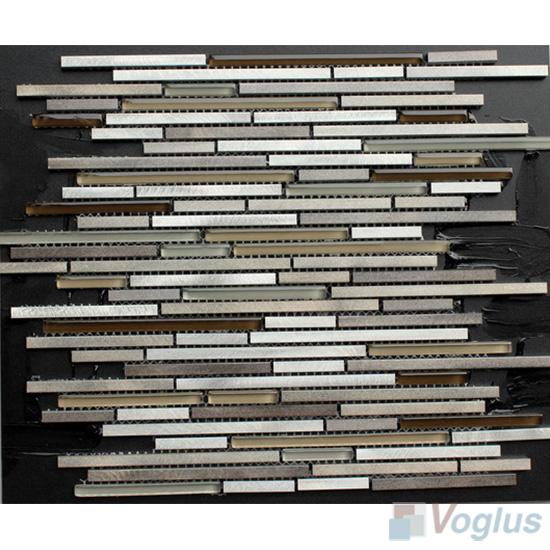 Matrix Glass Mixed Aluminum Mosaic Tile VB-GMR99