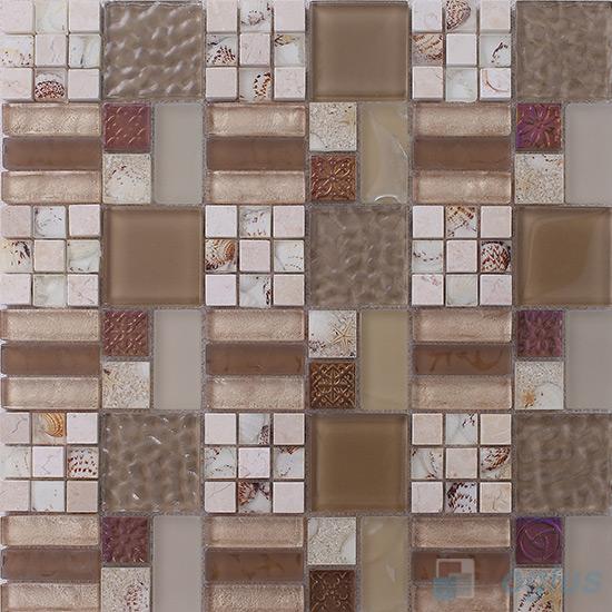 Miscellaneous Glass Blend Resin Mosaic VB-GRM86