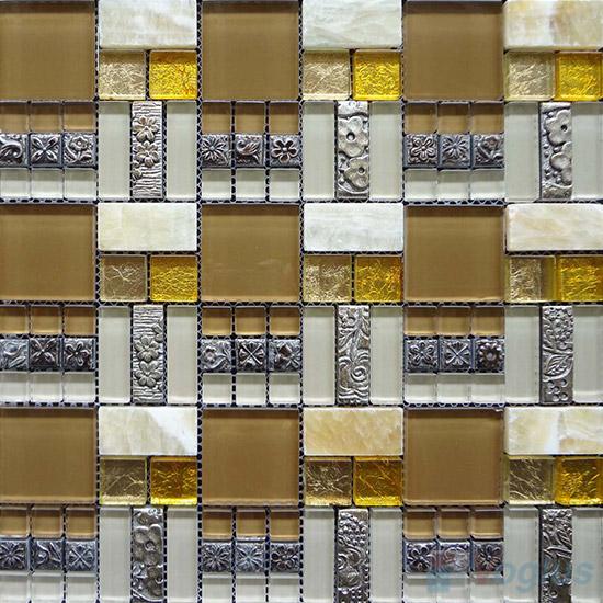 Miscellaneous Glass Blend Resin Mosaic VB-GRM87