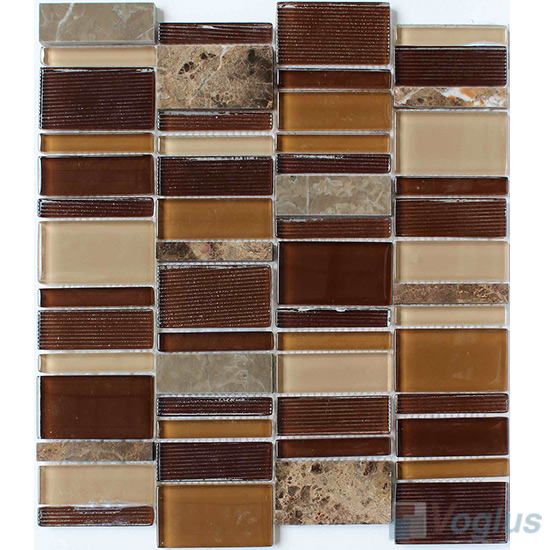Skyline Stream Glass Stone Tiles for Wall VB-GSV74