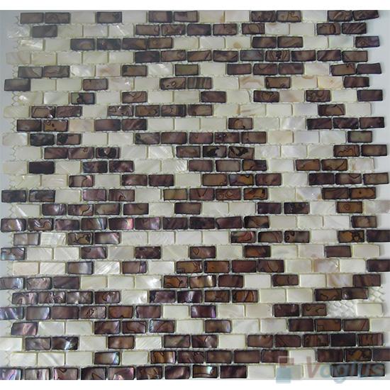 Small Brick Mother of Pearl Shell Mosaic VH-PN92
