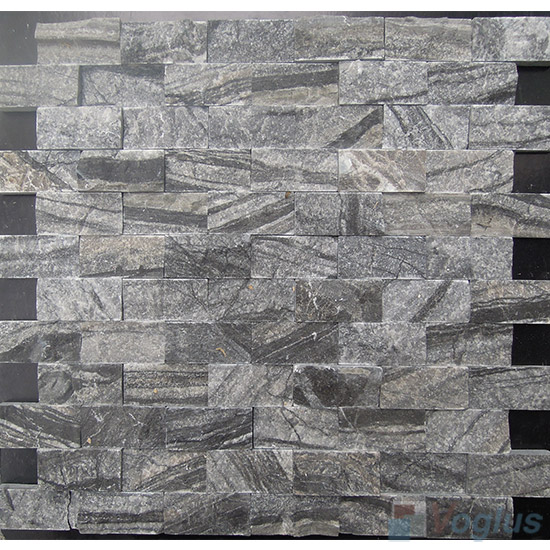 Antique Wood Grain Split Brick Marble Mosaic VS-PSL93