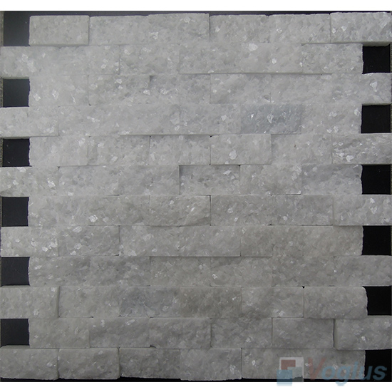 Crystal White Split Brick Marble Mosaic VS-PSL86