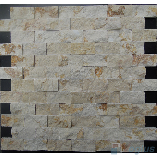 Gold Imperial Split Brick Marble Mosaic VS-PSL90