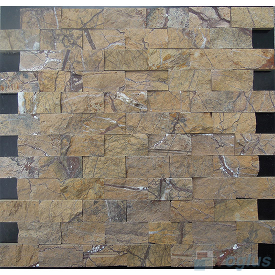 Tropical Forest Split Brick Marble Mosaic VS-PSL92