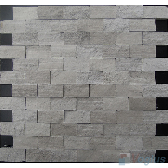 Wooden Gray Split Brick Marble Mosaic VS-PSL91