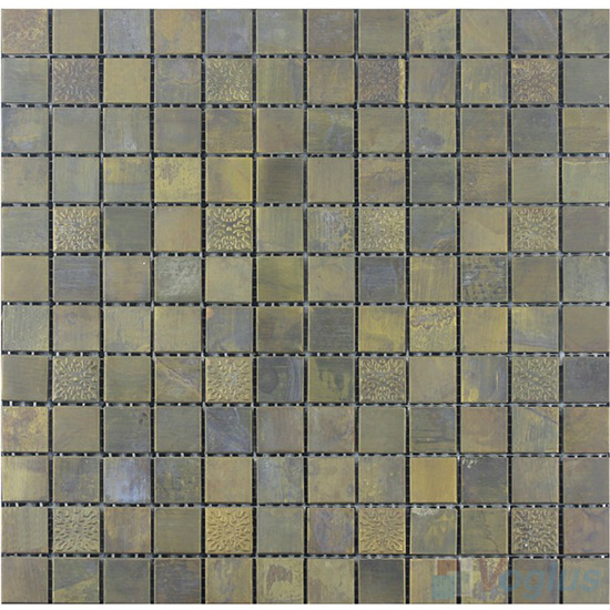 20x20mm Square Brown Copper Mosaic VM-CP93