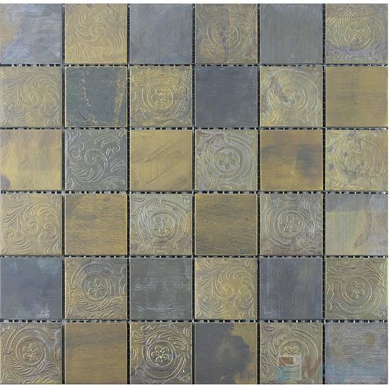48x48mm Classic Engraved Copper Mosaic VM-CP95