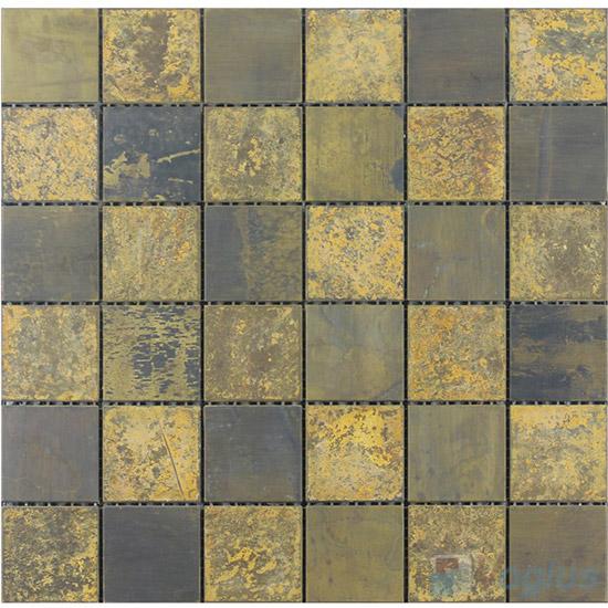 48x48mm Heritage Rustic Copper Mosaic VM-CP94