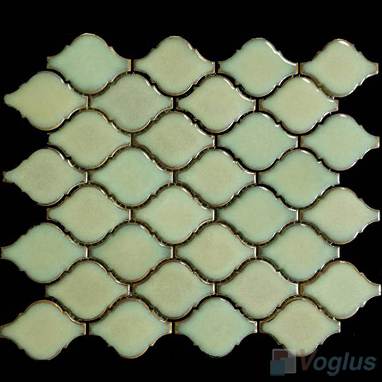 Apple Green Cucurbit Shaped Ceramic Mosaic VC-US85