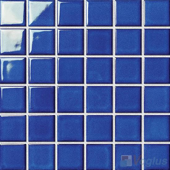 Blue 48x48mm 2x2 inch Swimming Pool Ceramic Mosaic VC-SP90