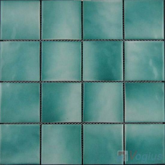 Blue 75x75mm 3x3 inch Swimming Pool Ceramic Tiles VC-SP94