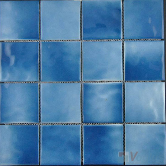 Blue 75x75mm 3x3 inch Swimming Pool Ceramic Tiles VC-SP95