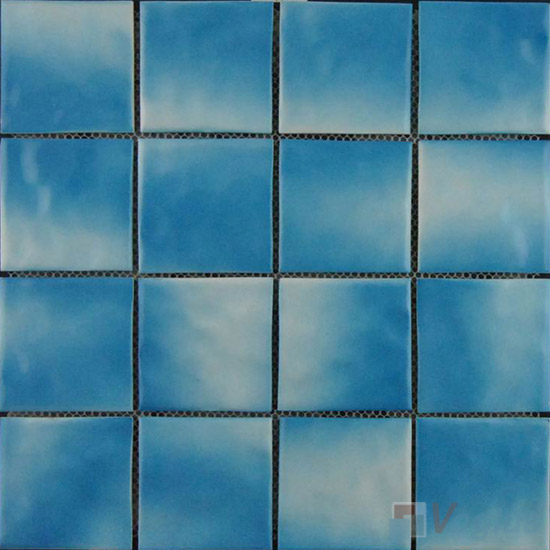 Blue 75x75mm 3x3 inch Swimming Pool Ceramic Tiles VC-SP96
