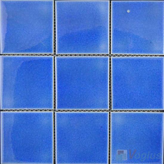 Blue 98x98mm 4x4 inch Swimming Pool Tiles VC-SP97