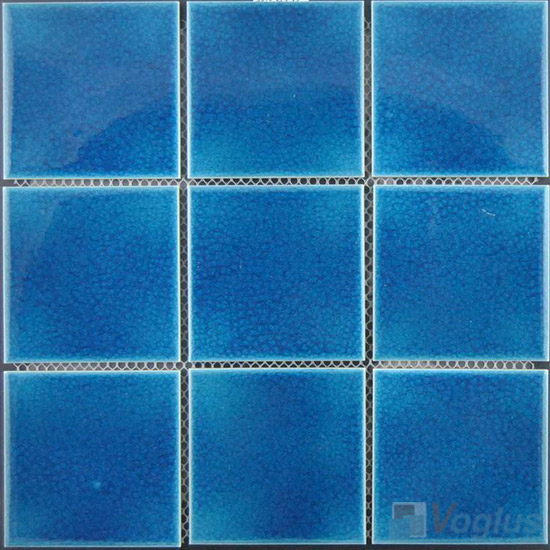 Swimming Pool Ceramic Mosaic Voglus Mosaic - Cobalt blue ceramic tile 4x4