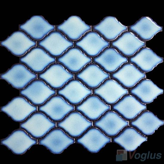 Blue Cucurbit Shaped Ceramic Mosaic VC-US87